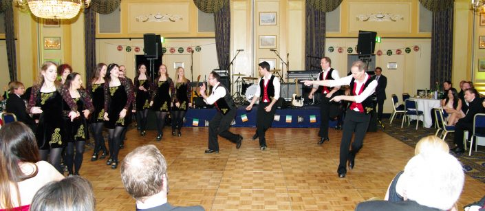 Irish Fire auf dem Irish Charity Ball